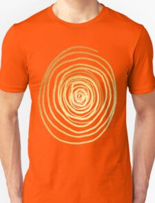 Painted Spiral Swirl in Faux Sparkly Gold Unisex T-Shirt