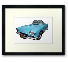 My big blue car Framed Print
