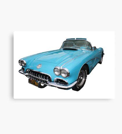 My big blue car Canvas Print