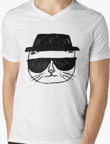 Heisenberg Cat Mens V-Neck T-Shirt