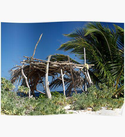 Old beach hut - Sandy Island, nr Carriacou Poster