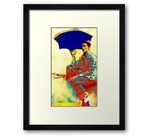 Kate and the Umbrella Framed Print