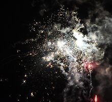 Sparkling and Red Fireworks by CharlotteCdV