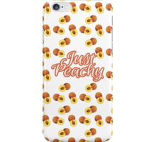 """""""Just Peachy"""" Typography on Peach Pattern iPhone Case/Skin"""