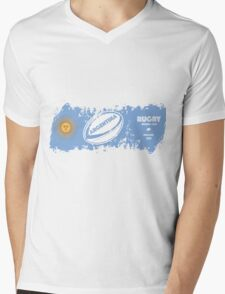 Argentina World Cup Rugby Supporter Mens V-Neck T-Shirt