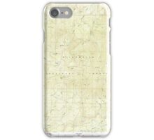 USGS Topo Map Oregon Groundhog Mountain 280109 1986 24000 iPhone Case/Skin