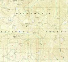 USGS Topo Map Oregon Groundhog Mountain 280109 1986 24000 Sticker