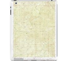 USGS Topo Map Oregon Groundhog Mountain 280109 1986 24000 iPad Case/Skin