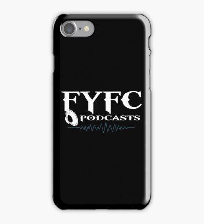 FYFC Podcasts White Logo Swag iPhone Case/Skin