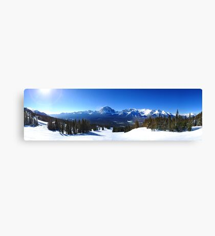 Lake Louise Mid Mountain Panorama Canvas Print