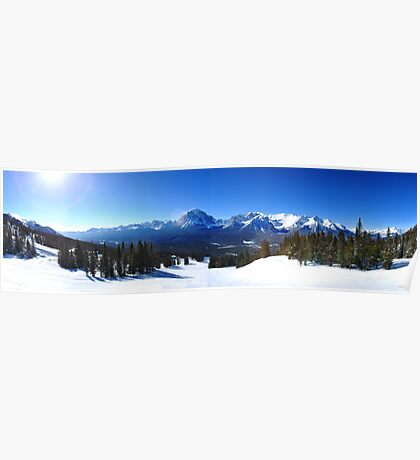 Lake Louise Mid Mountain Panorama Poster