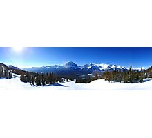 Lake Louise Mid Mountain Panorama Photographic Print