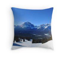 Lake Louise Mid Mountain Panorama Throw Pillow