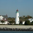 Lighthouse -- Old Point Comfort, Ft Monroe, VA by AJ Belongia