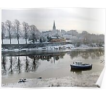 River Dee Reflections Poster