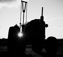 Vintage Tractor Sunset by Adrian Young