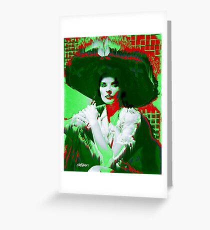 Madame Kate and the Big Hat Greeting Card