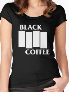 Black Flag Coffee  Women's Fitted Scoop T-Shirt
