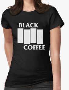 Black Flag Coffee  Womens Fitted T-Shirt