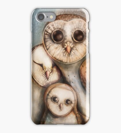 three wise owls iPhone Case/Skin