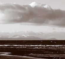 Across To Arran From Ayrshire Scotland by Stuart Kirby
