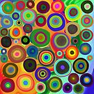 Colorful Painted Circles by Cherie Balowski