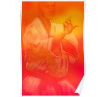 Male martial artist focuses on kata Poster