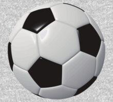 Soccer Kid- Football Team T-Shirt Sticker Duvet One Piece - Long Sleeve