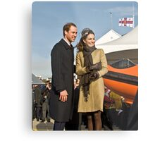 Prince William and Catherine No. 3. Metal Print