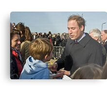 Prince William meets his match. Metal Print