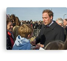 Prince William meets his match. Canvas Print