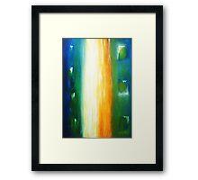 Fine White Line - Abstract Framed Print