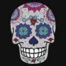Day of the Dead Sugar Skull Purple Eyes by Cherie Balowski