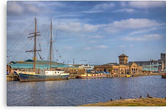 Prince Of Wales Docks by Lynne Morris
