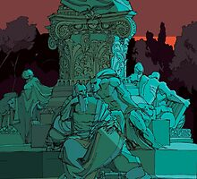Garden statue Rome by David  Kennett