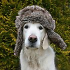 Ditte with my warm winter hat by Trine