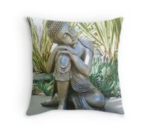 Buddha in Peace Photo Throw Pillow