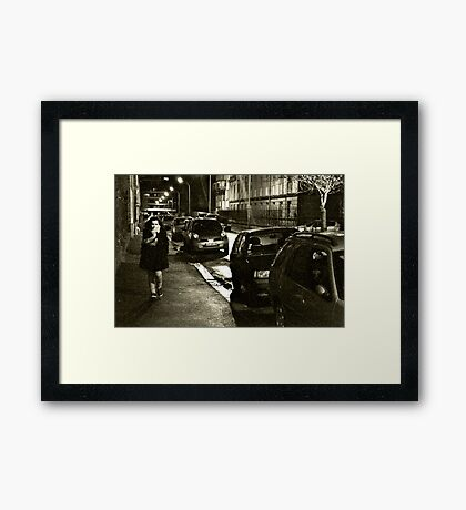 Wandering in the Streets Framed Print