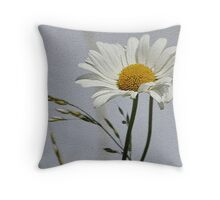 Textured Daisy Throw Pillow