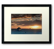 Sailing Into The Sunset 1 Framed Print