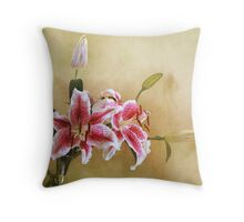 Star Gazer Lilies I Throw Pillow
