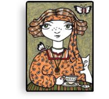 Tessa (Tea Leaf Reader) Canvas Print