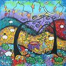 Shaking The Dreamland Tree- Acrylic by Juli Cady Ryan