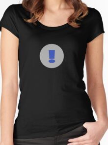 Exclamation Mark T-Shirt ~ Exclamation Point ! Clothing Case Women's Fitted Scoop T-Shirt