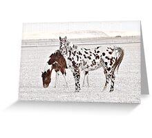 Dalmation Horse Greeting Card