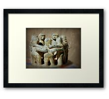 I Hug You - You hug me... On and on it goes... Round and round Framed Print