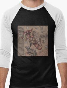 ComicCon Winged Merbunny Men's Baseball ¾ T-Shirt