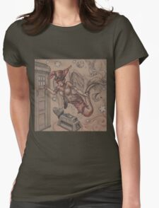 ComicCon Winged Merbunny Womens Fitted T-Shirt