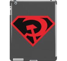 Red Son Superman Symbol (Black Background) iPad Case/Skin