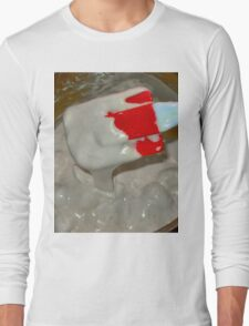 Melted Marshmallows with Red Spatula Long Sleeve T-Shirt